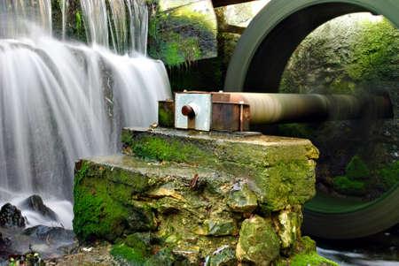 molino de agua: Parte del molino de agua Foto de archivo