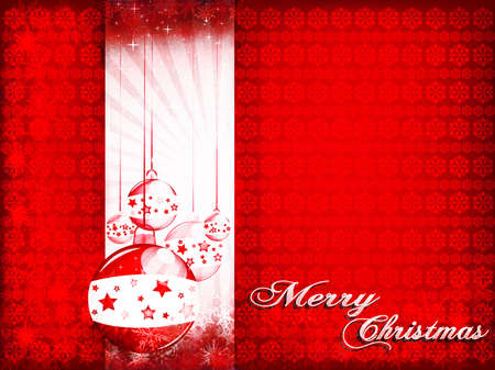 iceflower: Red Christmas card