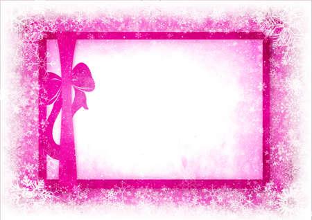 lazo rosa: Tarjeta de Navidad con espacio para el texto