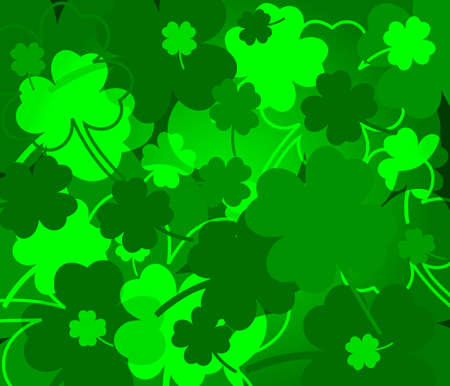 St  Patrick s day background with clovers Vector