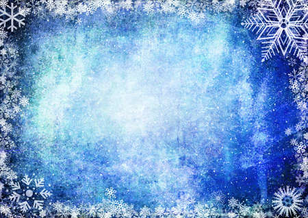 iceflower: Blue Christmas grunge texture background