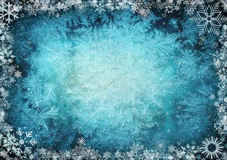 iceflower: Telaio da fiocchi di neve con spazio per il testo Archivio Fotografico