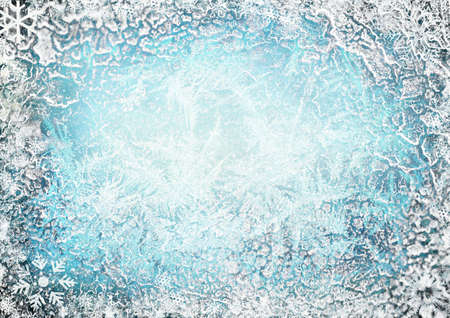 Frozen background photo