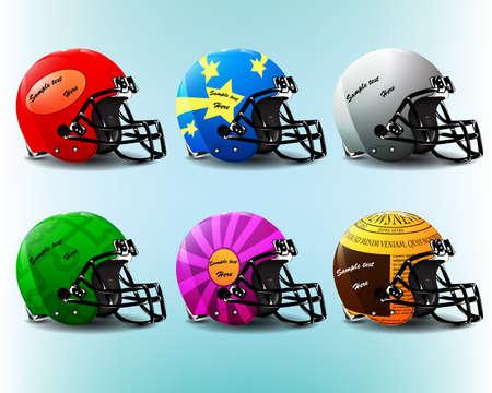 American Football Helm Set oder kreative Sprechblase Set