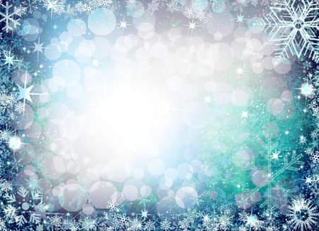 iceflower: Christmas background from snowflakes and stars