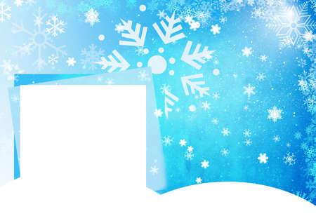 iceflower: Blue Christmas card Stock Photo