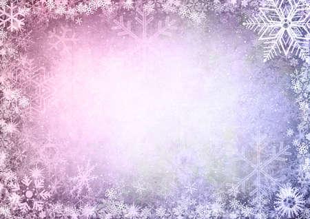 winter wallpaper: Cap�tulo de copos de nieve con espacio para el texto