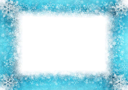 Blaue Weihnachtskarte Standard-Bild