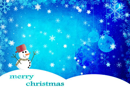 iceflower: Christmas background with snowman