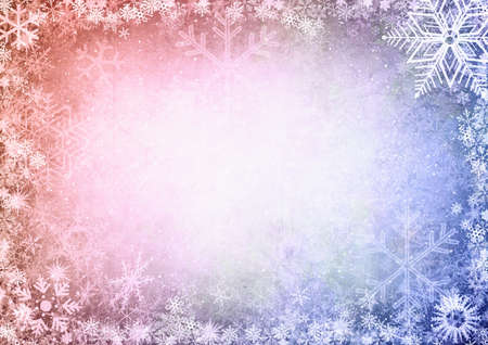 Christmas Seamless Pattern with snowflakes on colorful background  photo