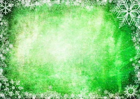 iceflower: Green Christmas grunge texture background