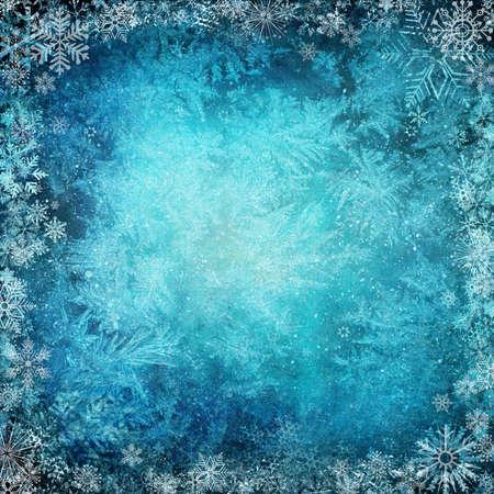 Winter Hintergrund von Schneeflocken Standard-Bild