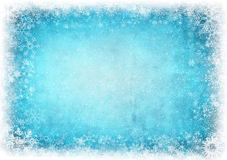 Rahmen aus Schneeflocken mit Platz für Text Standard-Bild