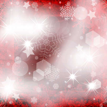 iceflower: Red Christmas background from snowflakes and stars