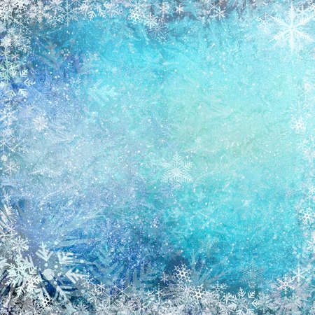 frozen: Blue Christmas grunge texture background  Stock Photo