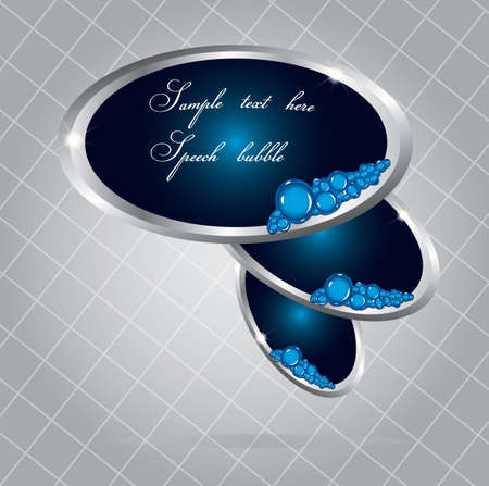 oval shape: Elegant oval shape speech bubbles  Illustration
