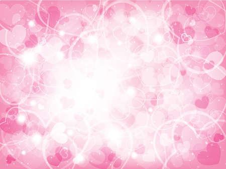 Valentines background día con corazones