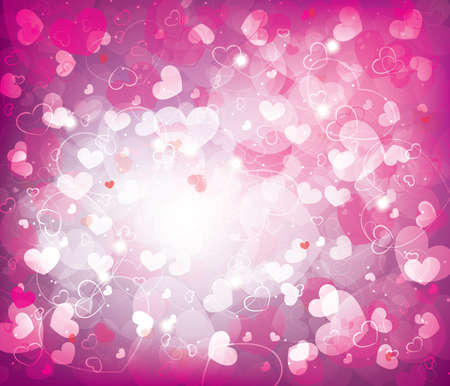 Valentines day background with hearts Stock Vector - 17475024