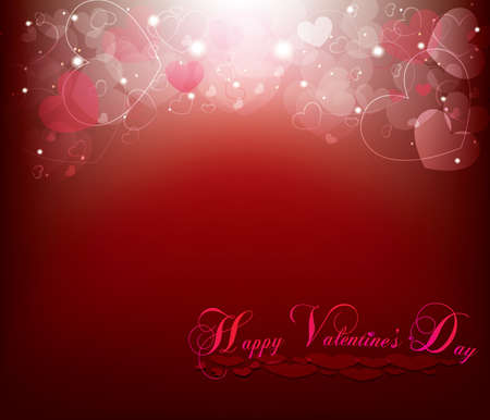 Red Valentines day card Stock Vector - 17337787