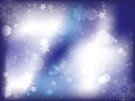 iceflower: Blue background with snowflakes