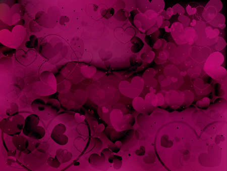Valentines day background with hearts Stock Vector - 17486662