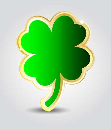 Elegant glossy clover shape speech bubble or St Patricks day card Stock Vector - 17501560