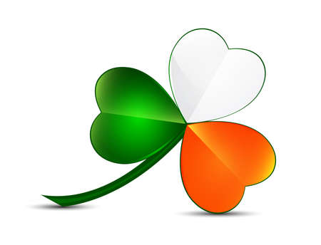 three colors: Three leaf clover from ireland colors