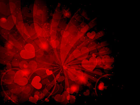 Abstract Valentines day background with hearts Stock Vector - 17510131