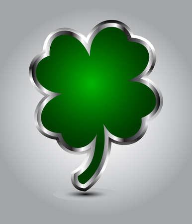 Elegant glossy clover shape speech bubble or St Patricks day card Stock Vector - 17638365