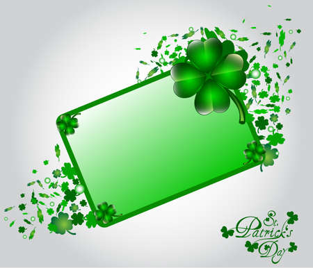 St Patricks day card with space for your text Vector