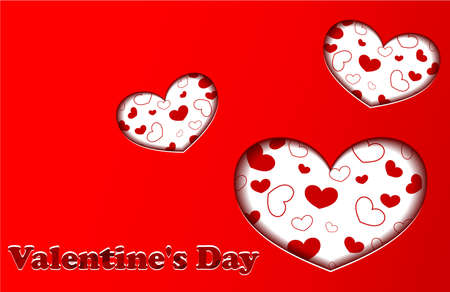cut outs: Red Valentines day card Illustration