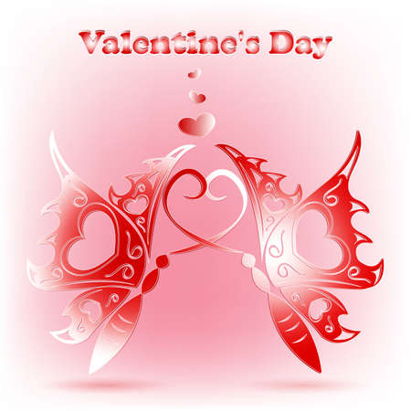 Elegant Valentines day card Vector