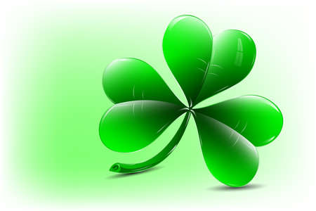 Clover with three leaves -  icon Vector