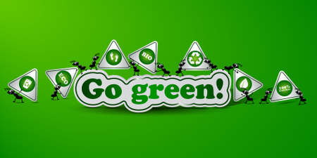 Go green card - ecology concept Stock Vector - 17725834