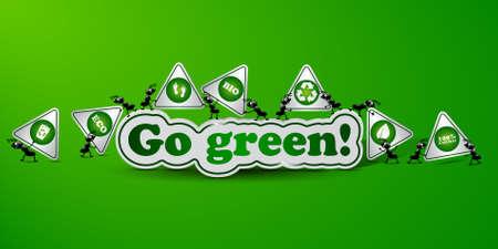 Go green card - ecology concept Stock Vector - 17725834