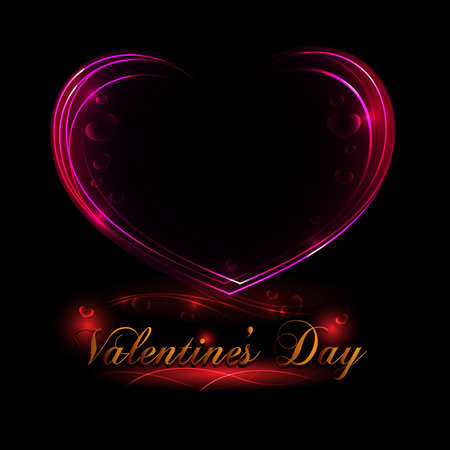 Elegant Valentines day card Stock Vector - 17638369