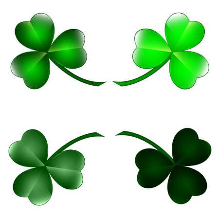 Set of three leaf clovers Stock Vector - 17714711