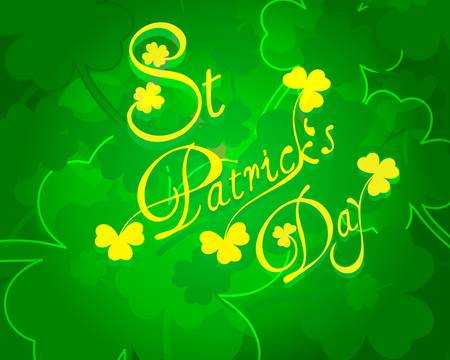 St Patricks day card or background Stock Vector - 17714712