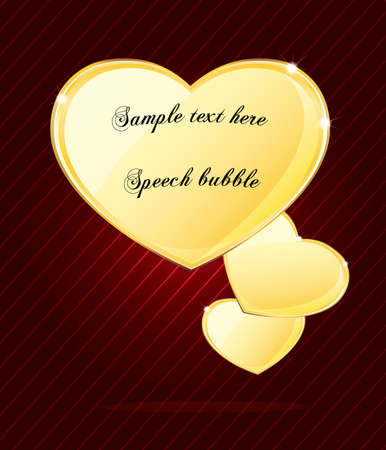 Elegant glossy heart shape speech bubble  Vector