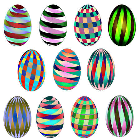 Abstract pattern Easter eggs Vector