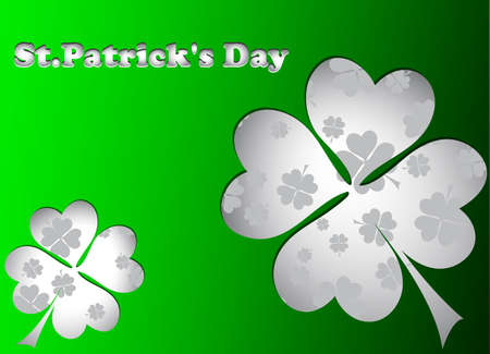 St Patricks day card with stickers Vector
