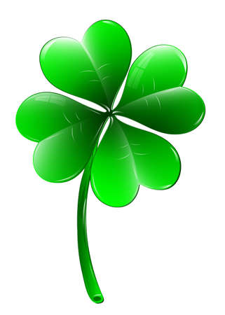 four leaf: Four leaf clover - vector icon Illustration