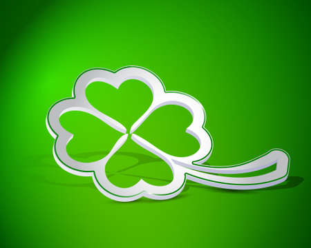 Four leaf clover shape from paper Vector