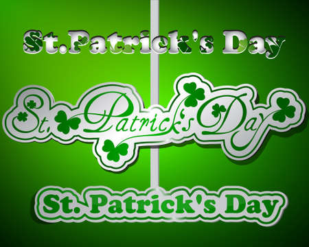 St Patricks day type text collection Vector