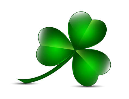 clover leaf shape: Three leaf clover