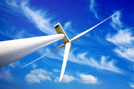 wind mill: Wind energy turbine Stock Photo