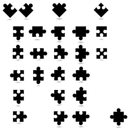All possible shapes of puzzle pieces Vector