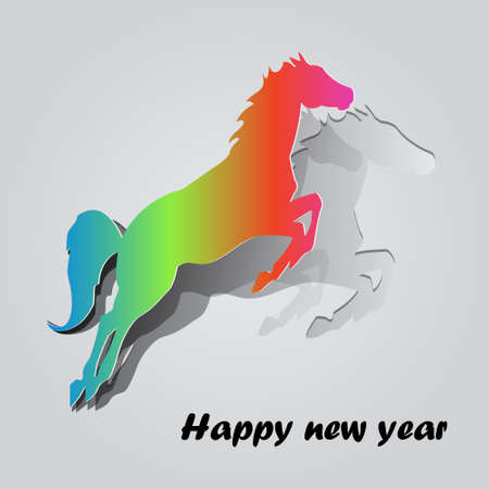 Year of the horse card 2014 Vector