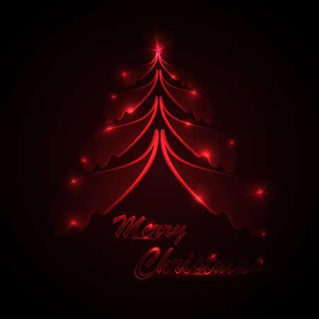 Elegant Glowing Christmas Card