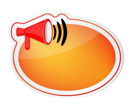 loud speaker: Speech bubble with loud speaker icon Illustration